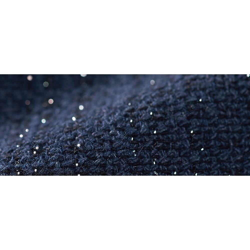 イタリア素材 ラメツイード スーツセット(ジャケット+スカート) 生地アップ