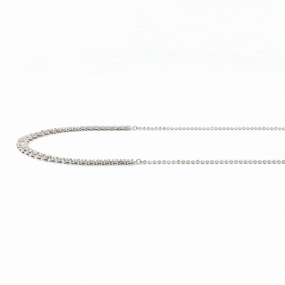 K18WG 1.5ctダイヤ スライド ネックレス