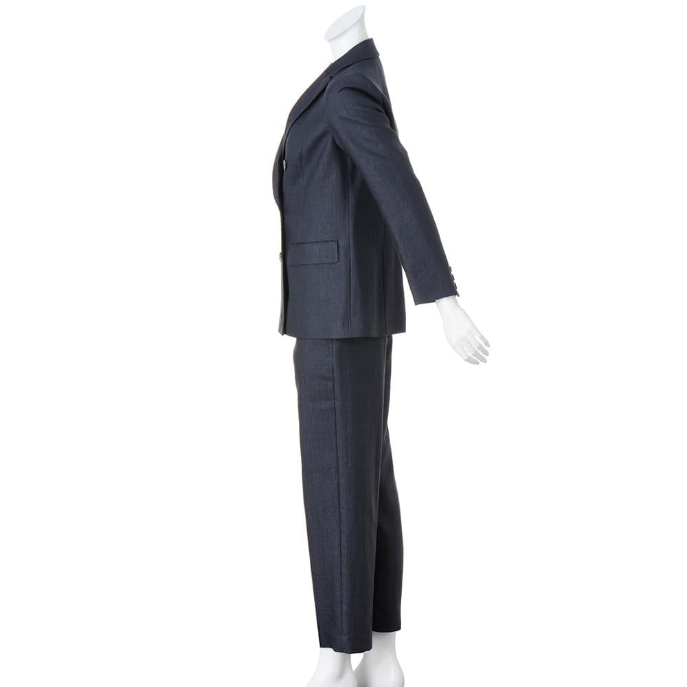 リッチェリ社 リネン混 スーツセット(ジャケット+パンツ) 【股下丈70cm】