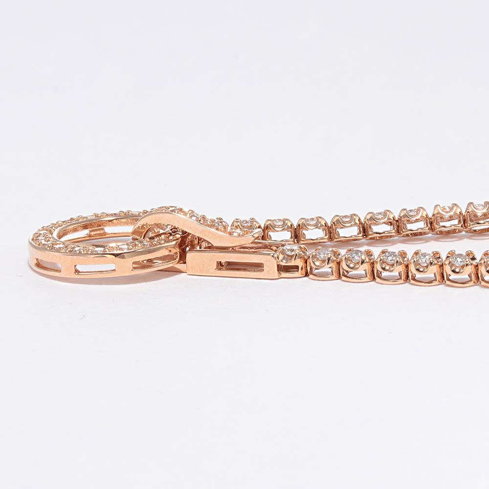 K18 1.1ctダイヤ デザイン ブレスレット SIDE