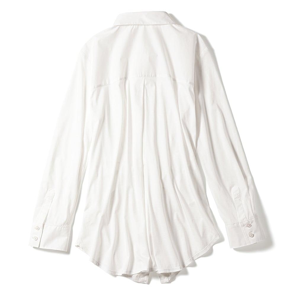 布帛使い マハラニ(R) 超長綿 ジャージー シャツ BACK