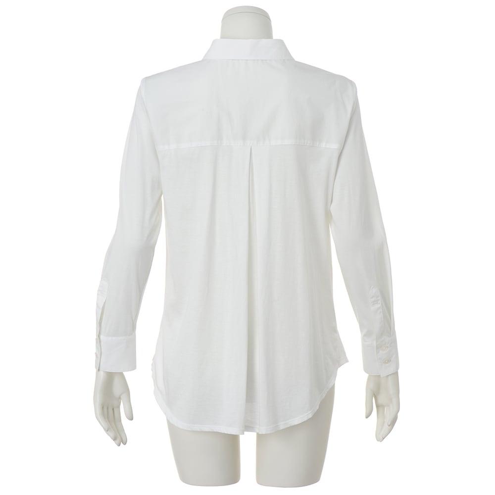布帛使い マハラニ(R) 超長綿 ジャージー シャツ