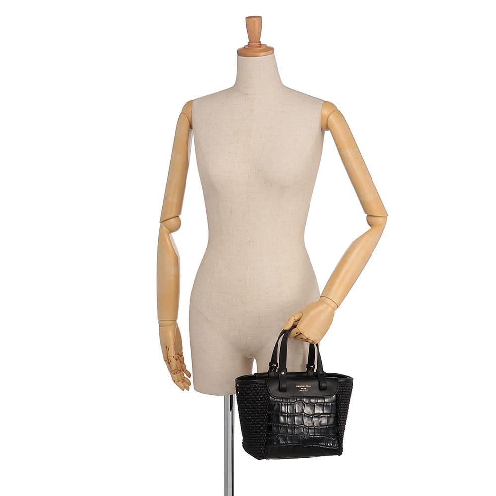 CHRISTIAN VILLA/クリスチャンヴィラ 素材コンビ 2WAY バッグ(イタリア製) 着用例