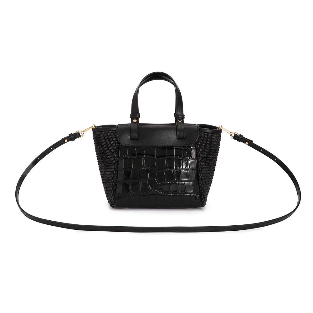 CHRISTIAN VILLA/クリスチャンヴィラ 素材コンビ 2WAY バッグ(イタリア製) BACK