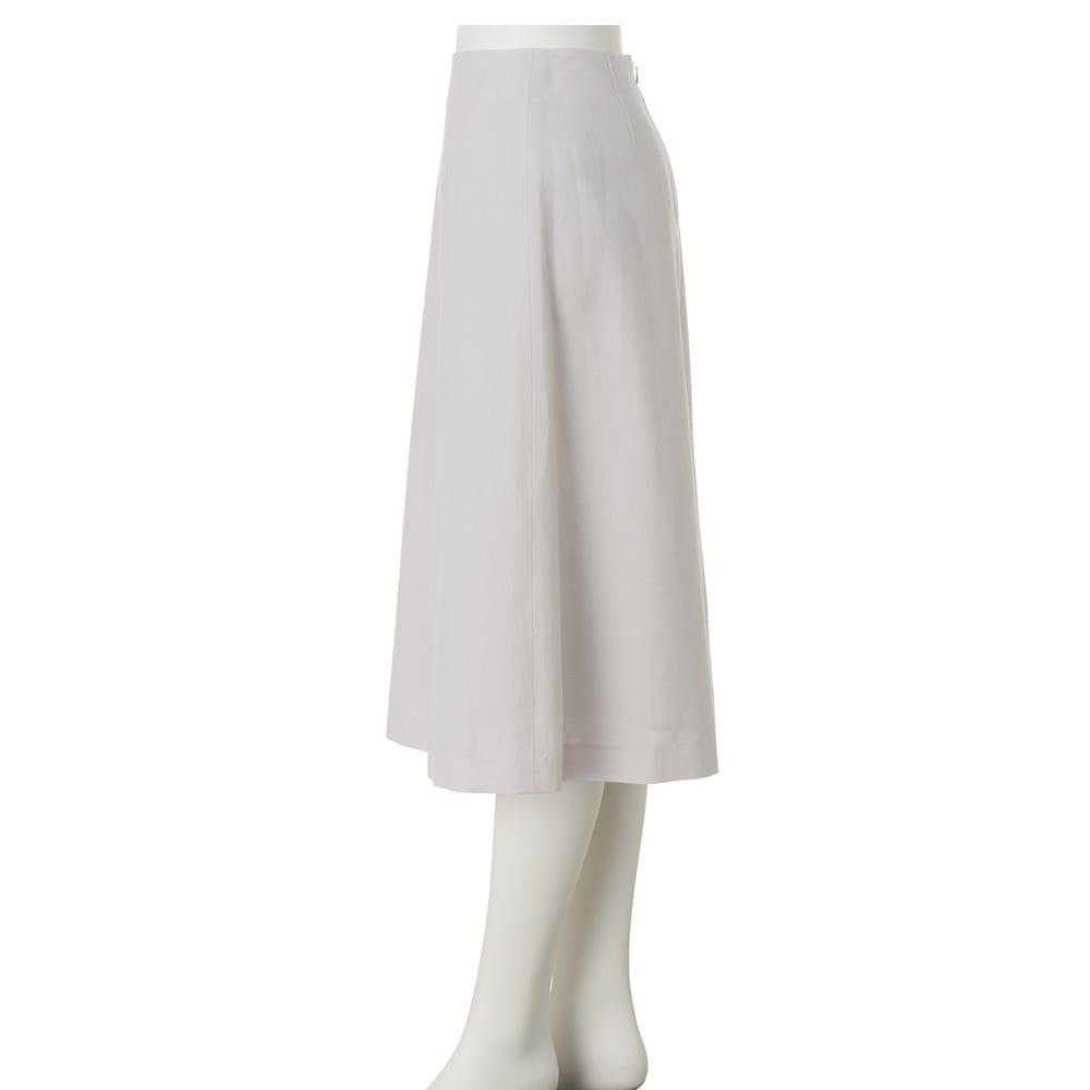 「NIKKE」 ウールリネン トロピカル フレアースカート