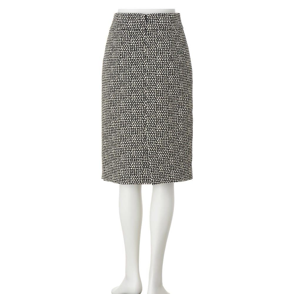 イタリア素材 ドット柄 ジャカード スカート