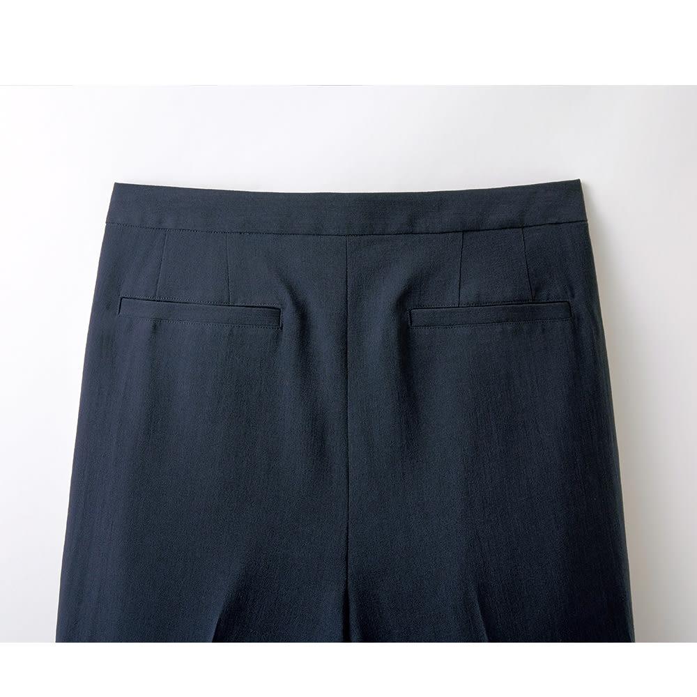 トリアセテート混 セットアップ(ブラウス+パンツ) パンツ BACK