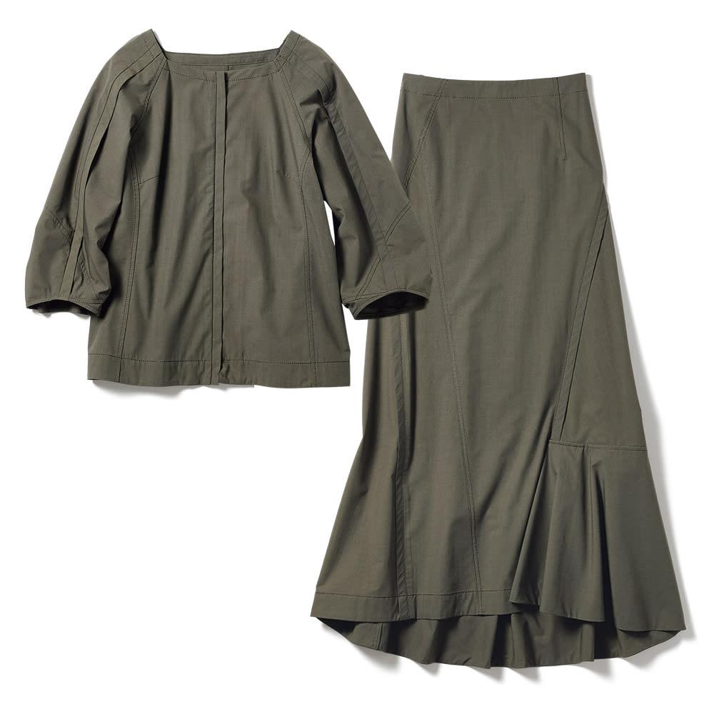 タイプライター 切り替えデザイン セットアップ(ブルゾン+スカート) ブルゾン+スカート
