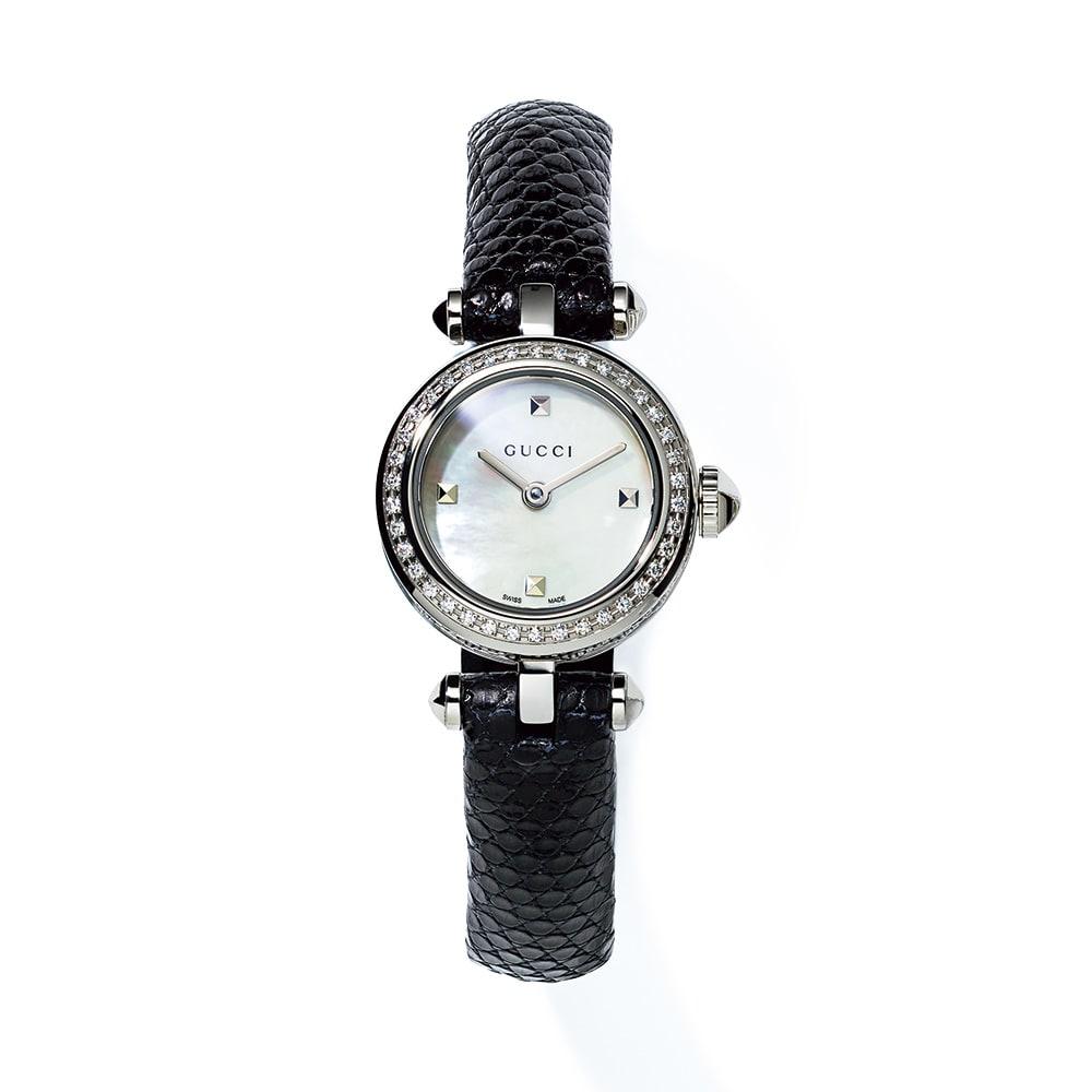 GUCCI/グッチ ディアマンティッシマ レディース ホワイトパール レディース腕時計