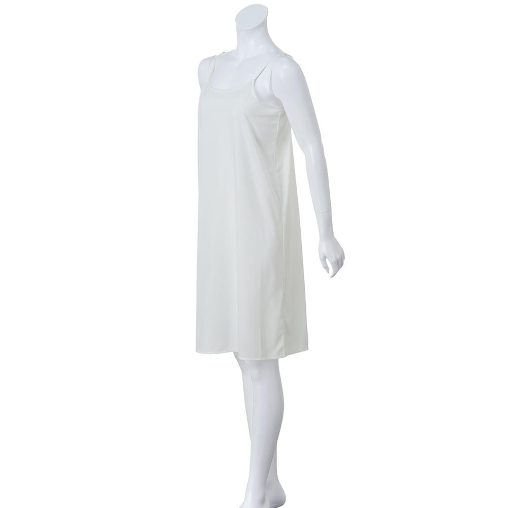 ポロ襟&レーシーニット ワンピース インナードレス付き(肩紐調節可)