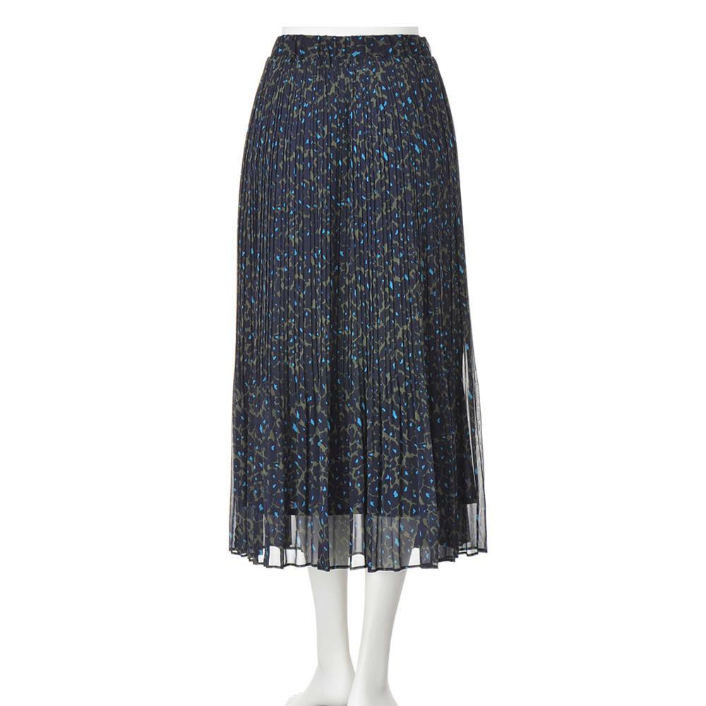 フラワープリント デザイン プリーツスカート