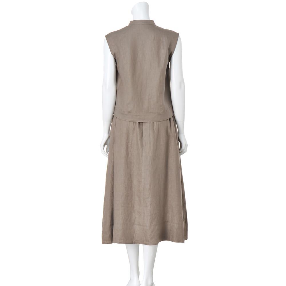 リネン素材 セットアップ(ジャケット+スカート)