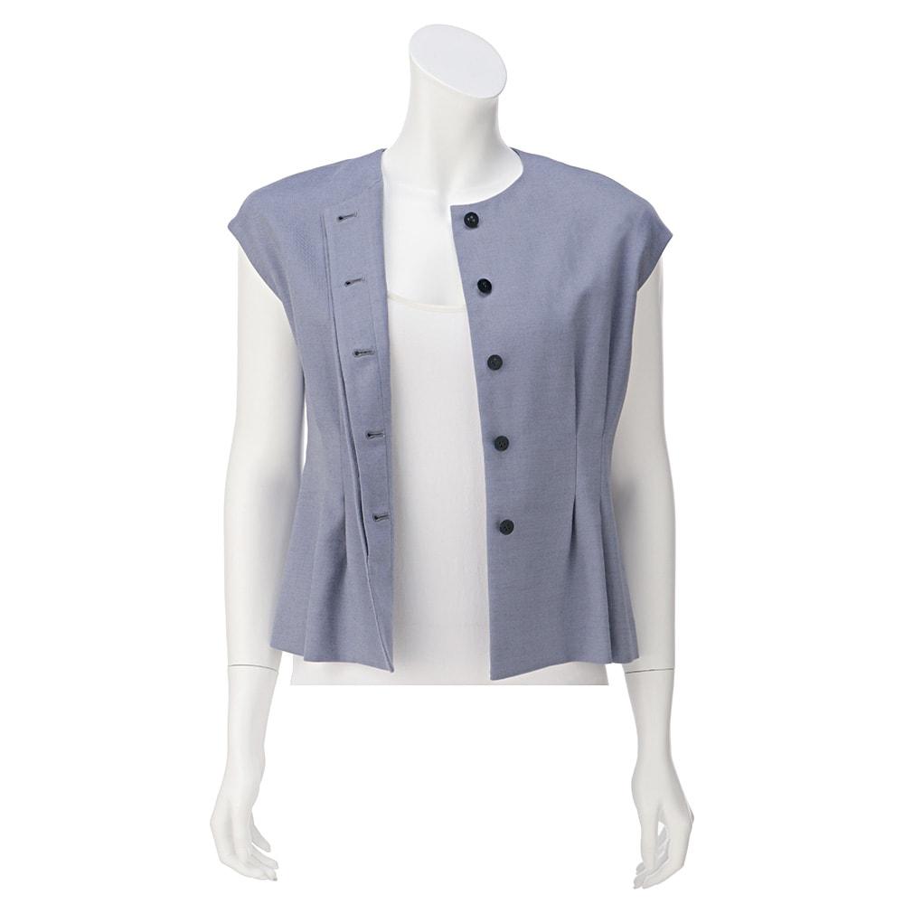 ウール混 ビエラ スーツセット(ジャケット+ワイドパンツ) ※インナーは含まれません。