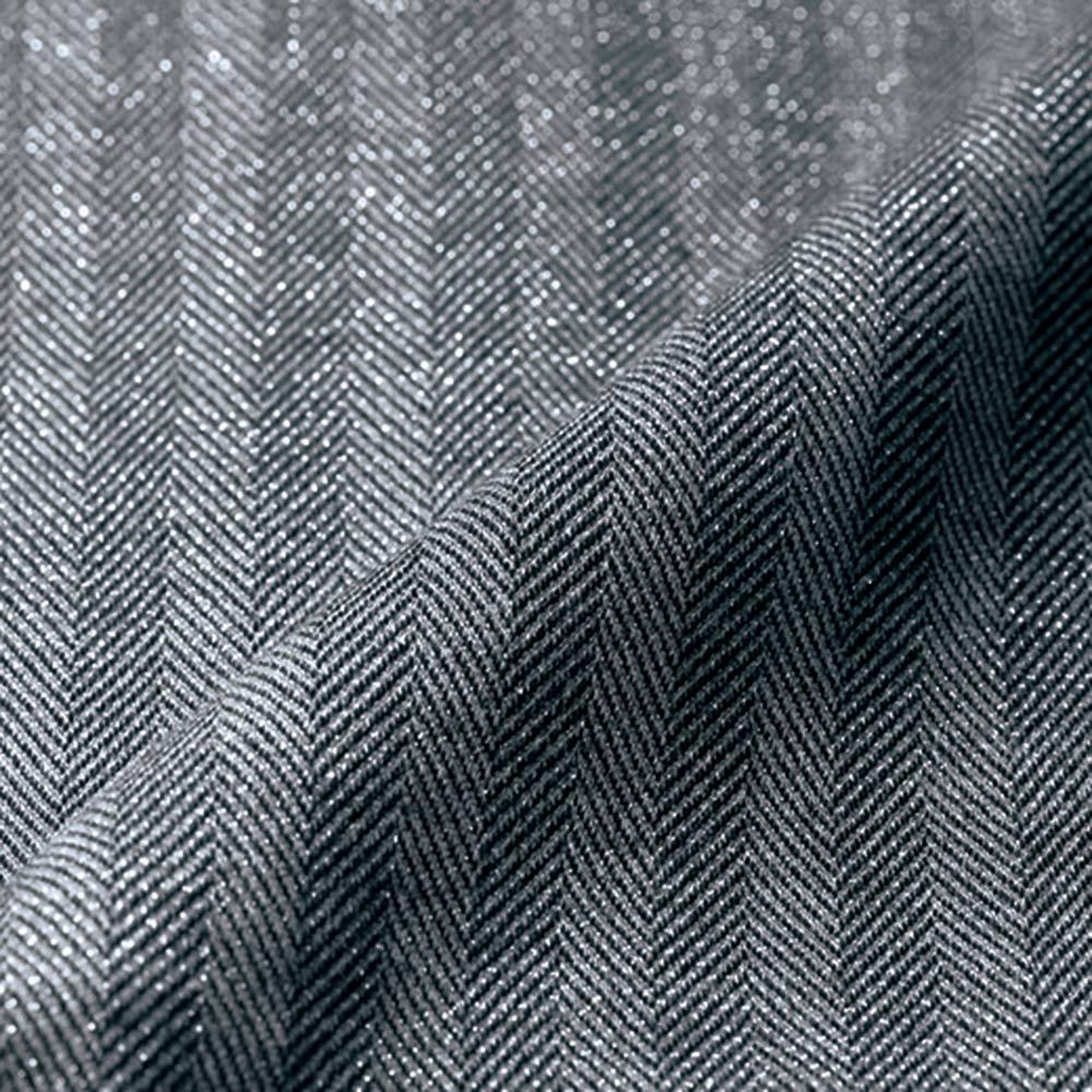 イタリア素材 ラメ入りヘリンボーン ジャージージャケット 生地アップ