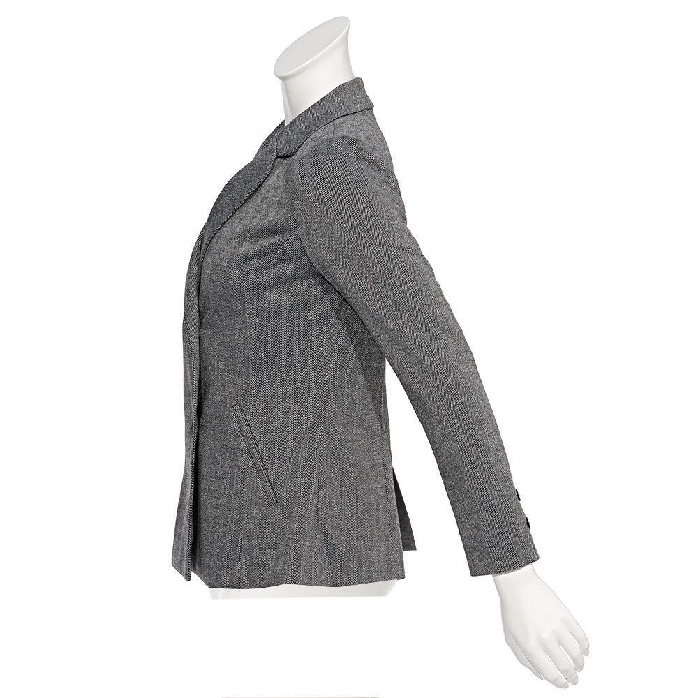 イタリア素材 ラメ入りヘリンボーン ジャージージャケット