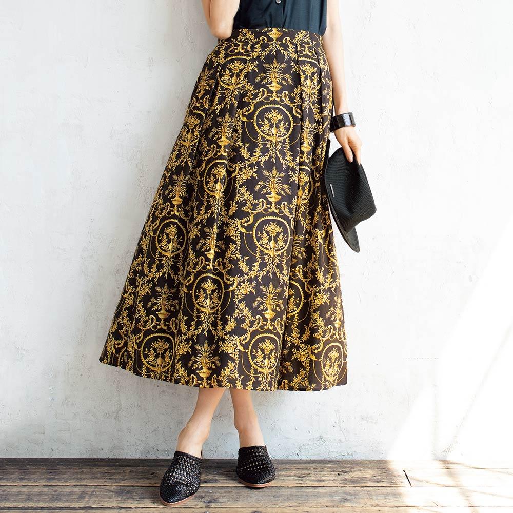 LIBERTY PRINT/リバティプリント 「マリー・アントワネット」 スカート 着用例