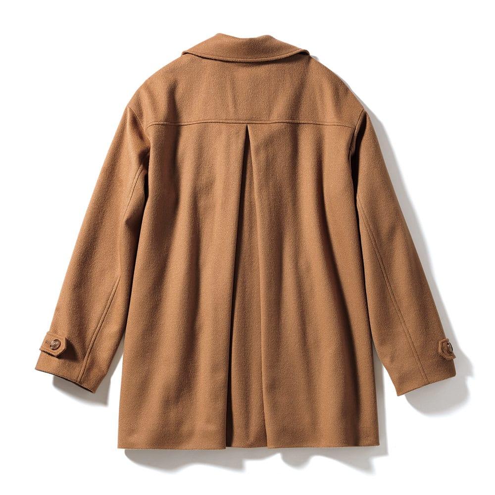 PIACENZA/ピアツェンツァ カシミヤ デザインPコート Back (イ)キャメルブラウン
