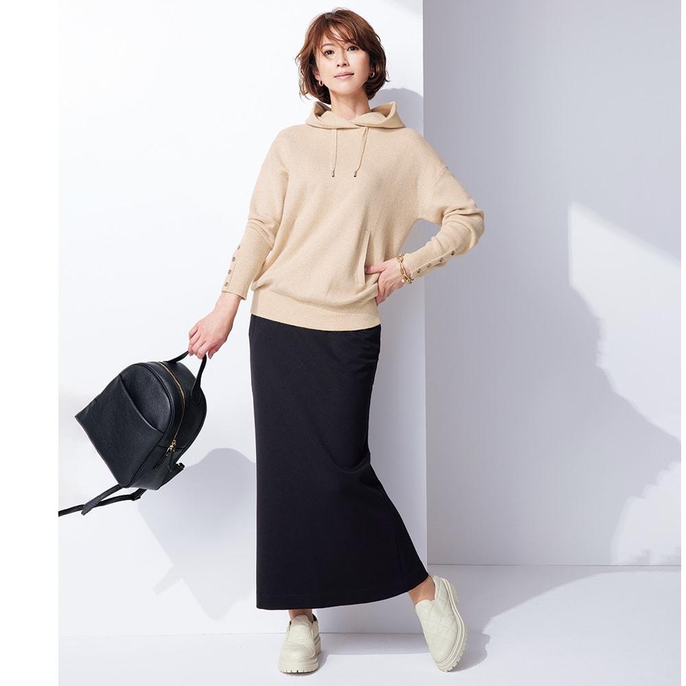ヘビーポンチタイトスカート コーディネート例