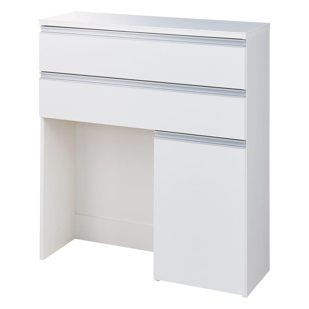 人工大理石天板 薄型オープンハイカウンター 幅100cm (ア)ホワイト