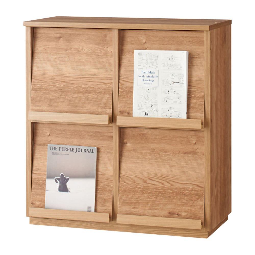 天然木調 ディスプレイラックシリーズ 2列2段