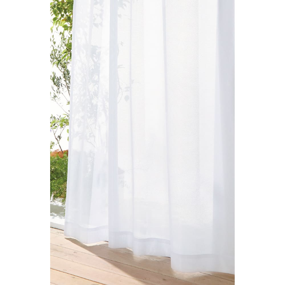 遮熱・防炎スーパーミラーレースカーテン 幅200cm(1枚組) お部屋を明るく、遮熱&保温もバッチリ!しかも外からの視線はガードの頼れるレースカーテン。