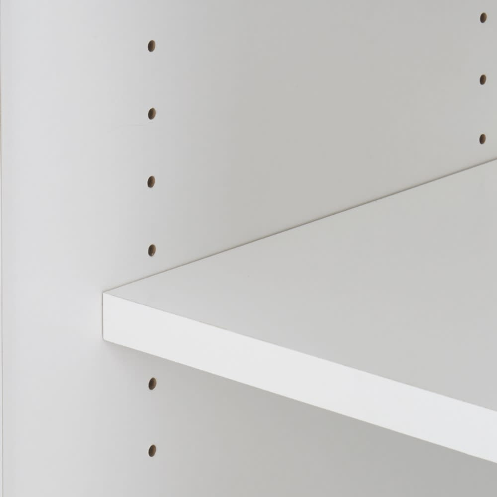 3面鏡ドレッサーシリーズ キャビネット 幅60cm 可動棚板は3cm間隔で調節できます。
