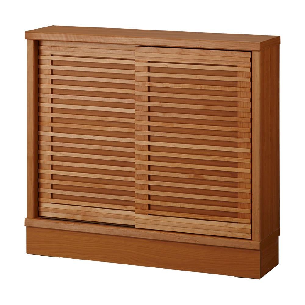 アルダー格子引き戸収納庫 幅90cm奥行25cm 【奥行25cmタイプ】収納物や設置場所に合わせて選べる2サイズをご用意しております。
