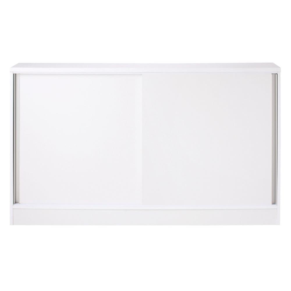 ストレートライン カウンター下引き戸収納庫 幅150 奥行30cmタイプ ストレートなラインの取っ手がスタイリッシュでオシャレなデザインの家具。  本体はハードコート紙を採用、傷汚れに強いです。