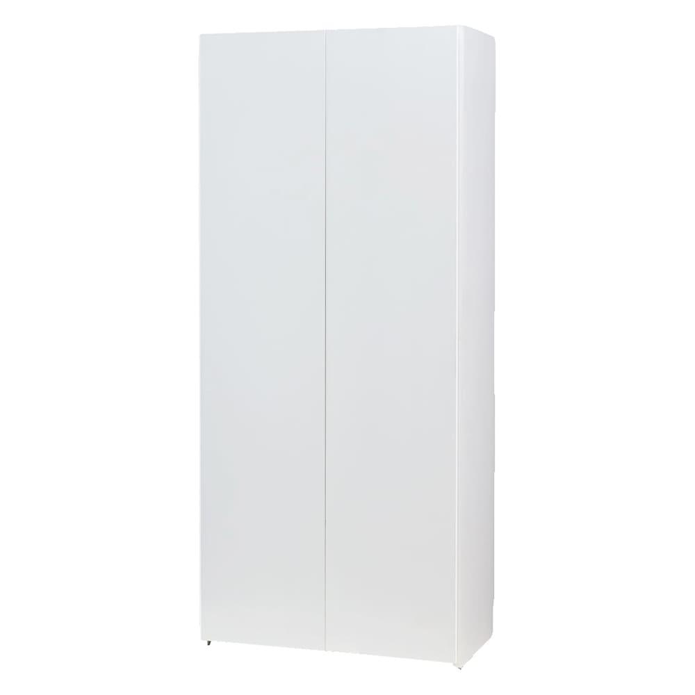 エントランス納戸シューズボックス バー付き 幅80cm (イ)ホワイト