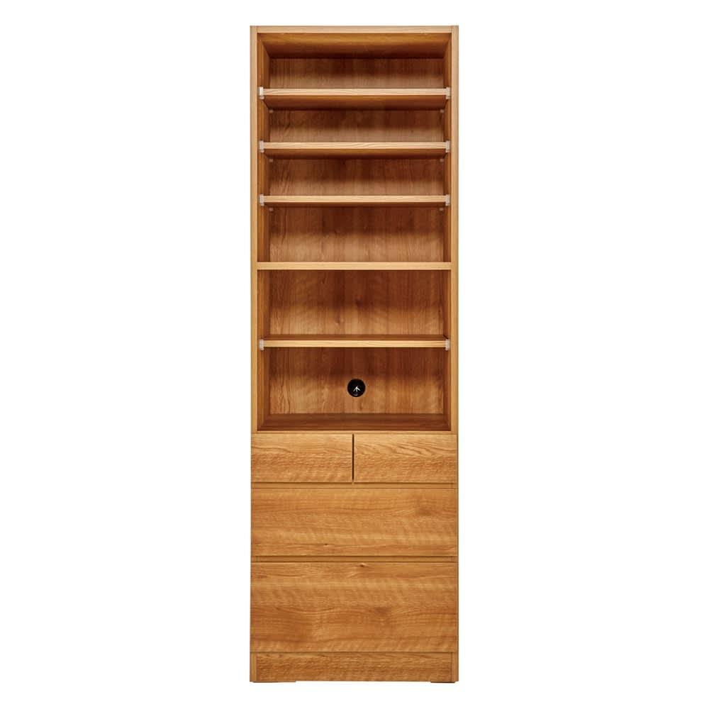 天然木調 リビング壁面収納シリーズ 収納庫 オープン棚タイプ 幅57.5cm 961308