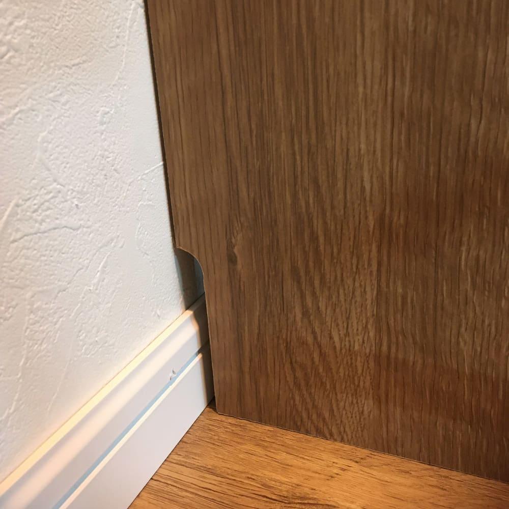 日用品もしまえる頑丈段違い書棚 ヴィンテージ木目調タイプ 書棚 幅60cm 幅木対応(1.5×10cm)あり