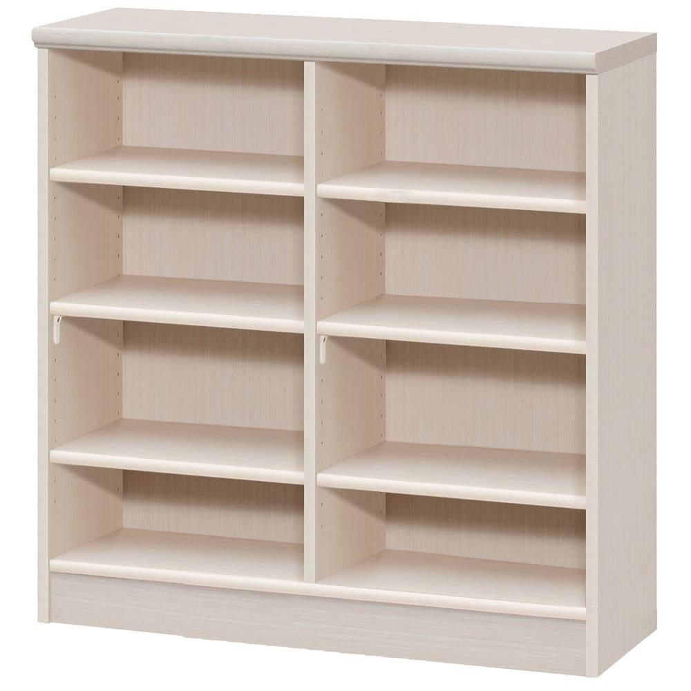 色とサイズが選べるオープン本棚 幅86.5cm高さ88.5cm (ア)ライトナチュラル