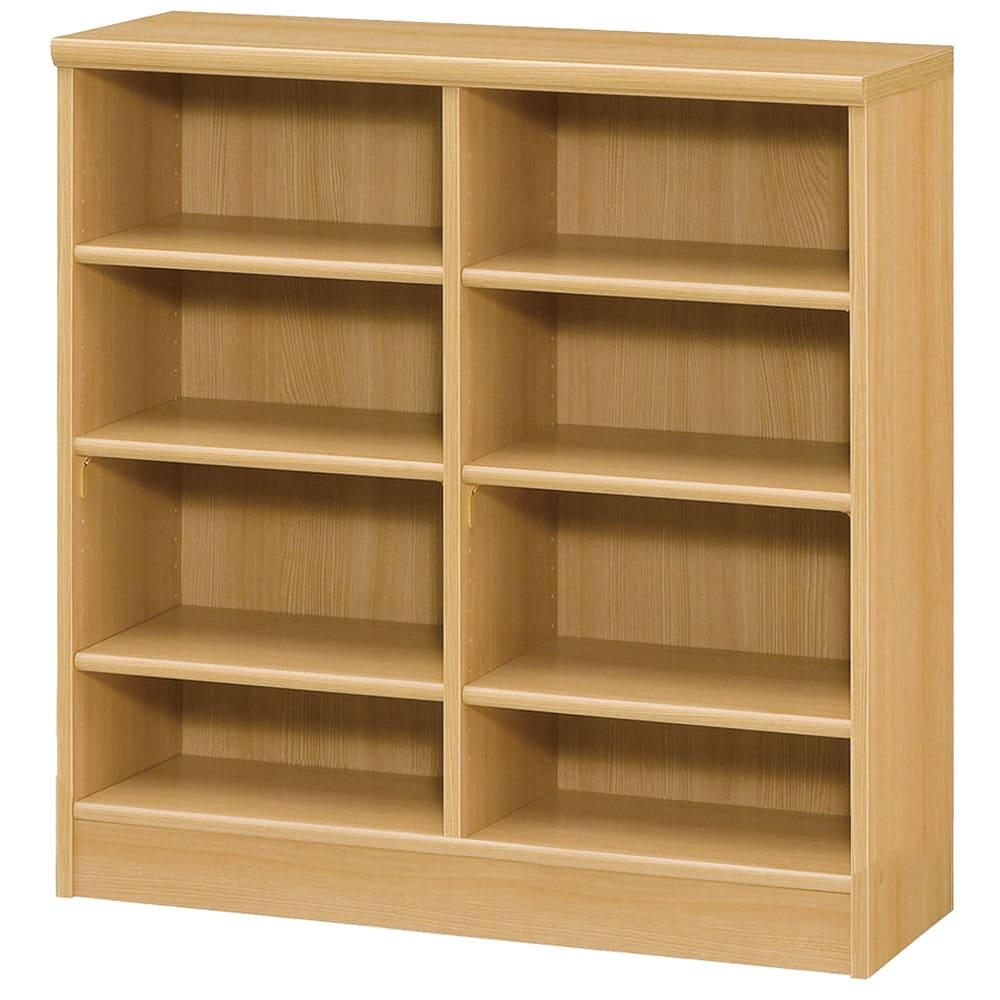 色とサイズが選べるオープン本棚 幅86.5cm高さ88.5cm (オ)ナチュラル