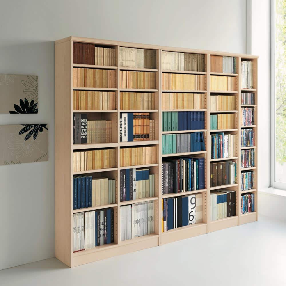 色とサイズが選べるオープン本棚 幅86.5cm高さ88.5cm (ア)ライトナチュラル※色見本。※お届けする商品とはサイズが異なります。