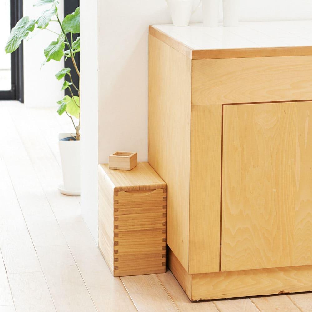 イシモク「桐子モダン」 桐の米びつ 10kg 見える場所に置いても美しい米櫃