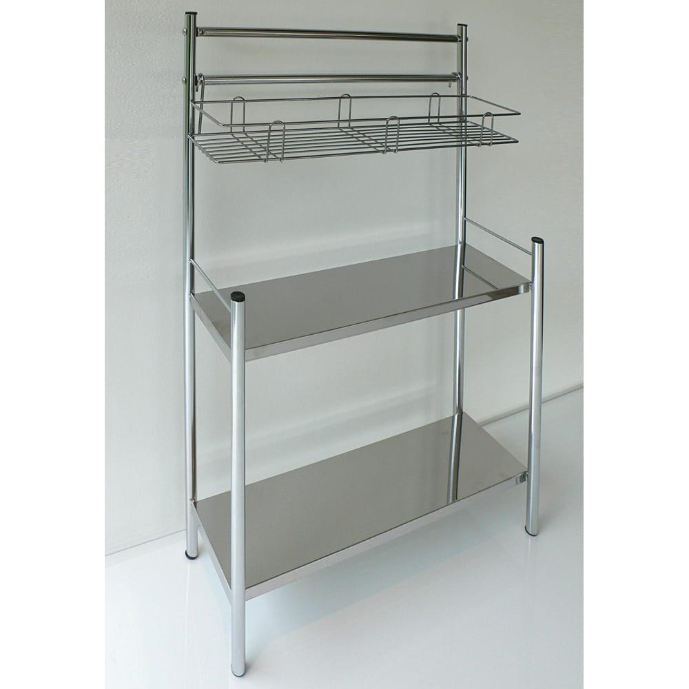 ステンレス棚コンロサイド収納ラック スパイスラックタイプ 幅40cm シンクサイドやコンロサイドに置きやすい形。