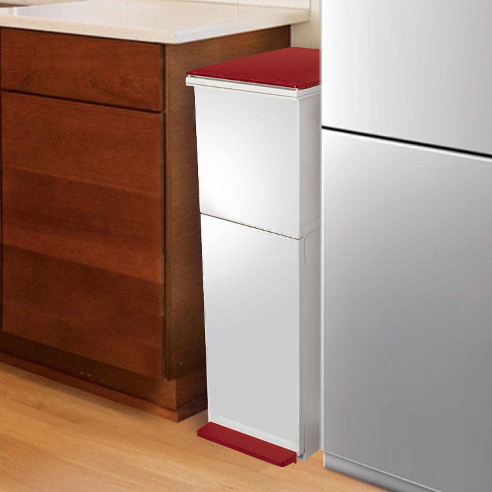 分別ダストボックス ペダル2段スリム 狭小のキッチンスペースおすすめ。