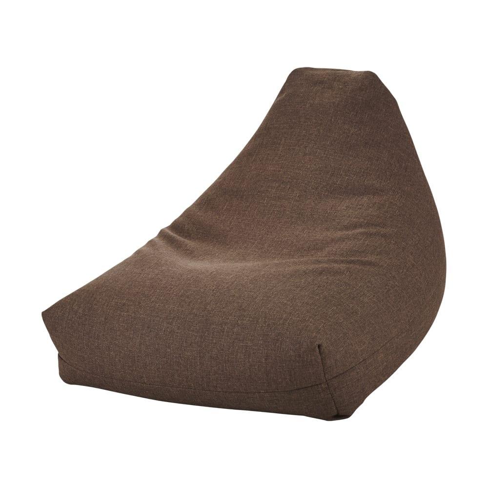 しっかり座れるコンパクトビーズクッション (ア)ブラウン
