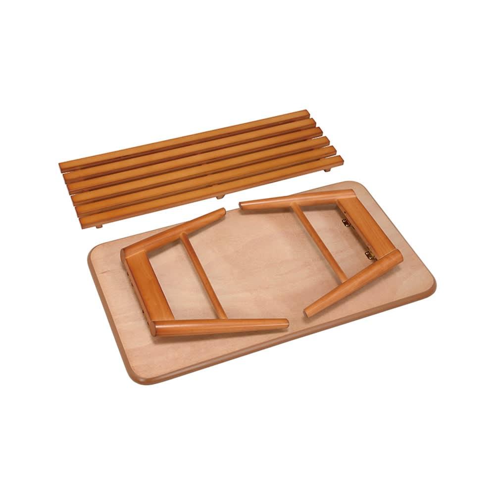 天然木折りたたみテーブル(スクエア) 折りたたみ時(高さ8cm)