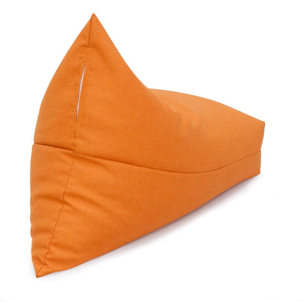 しっかり座れるコンパクトビーズクッション (ウ)オレンジ