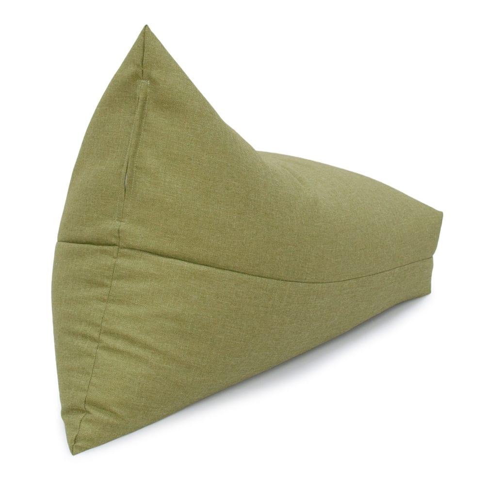 しっかり座れるコンパクトビーズクッション (イ)グリーン