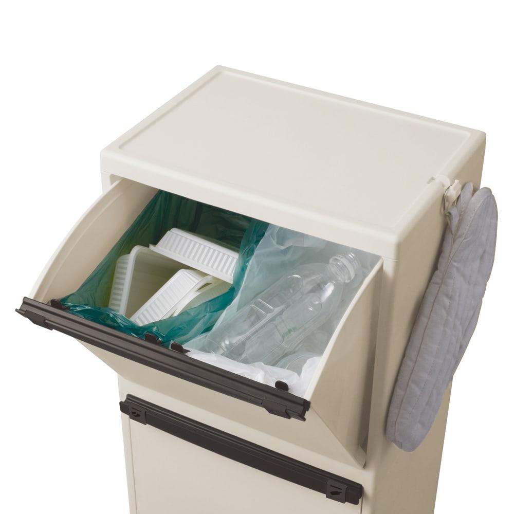多分別ごみ箱2段 ロータイプ
