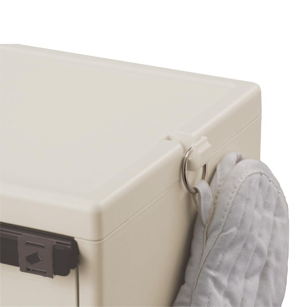 多分別ごみ箱2段 ロータイプ 再度にはフック付き
