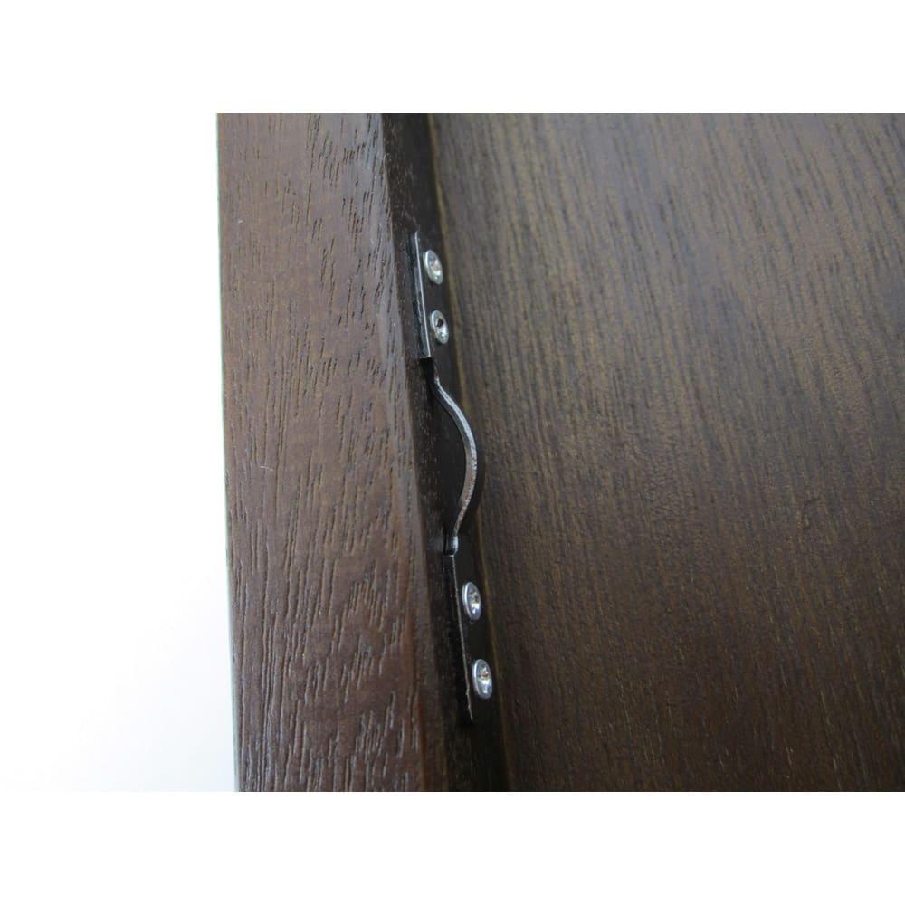 スタンド&壁掛け兼用ミラー 幅60高さ171cm 裏側のひもをひっかける金具