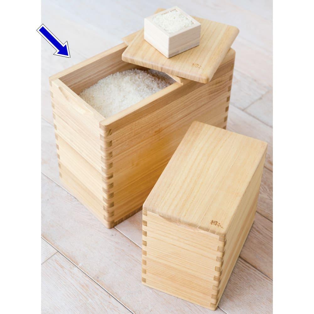 イシモク「桐子モダン」 桐の米びつ 10kg ナチュラル