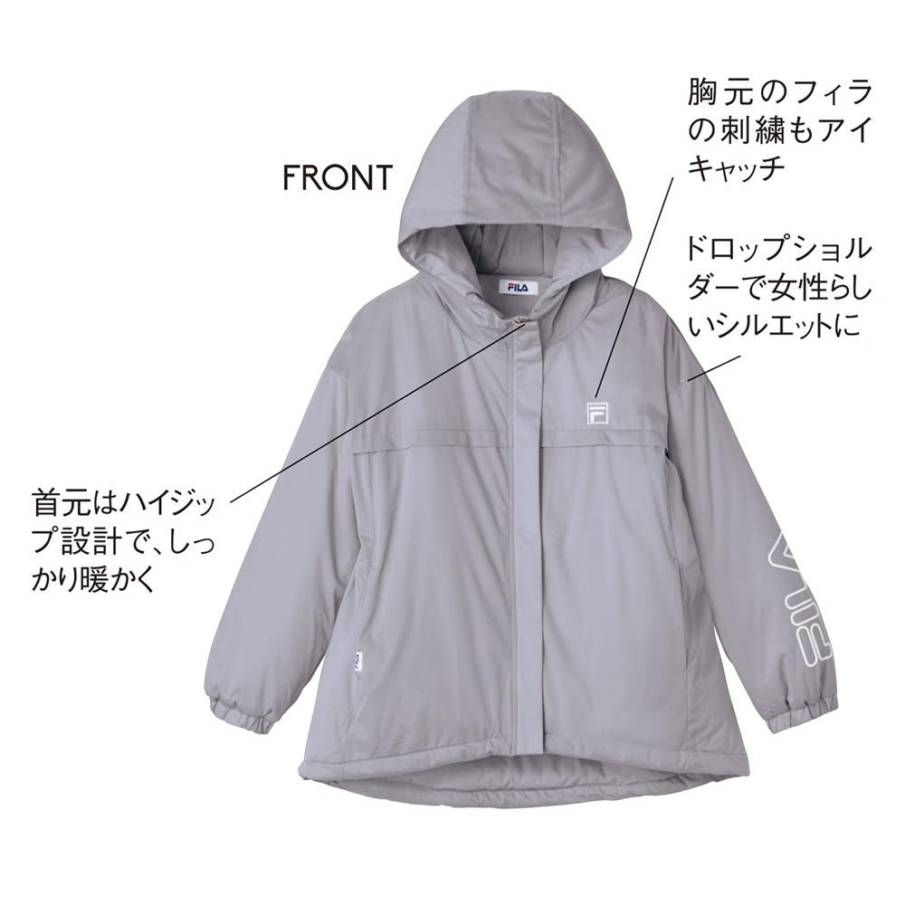 FILA 薄中綿の防風マルチブルゾン(はっ水・防風・UV) (イ)グレー Front