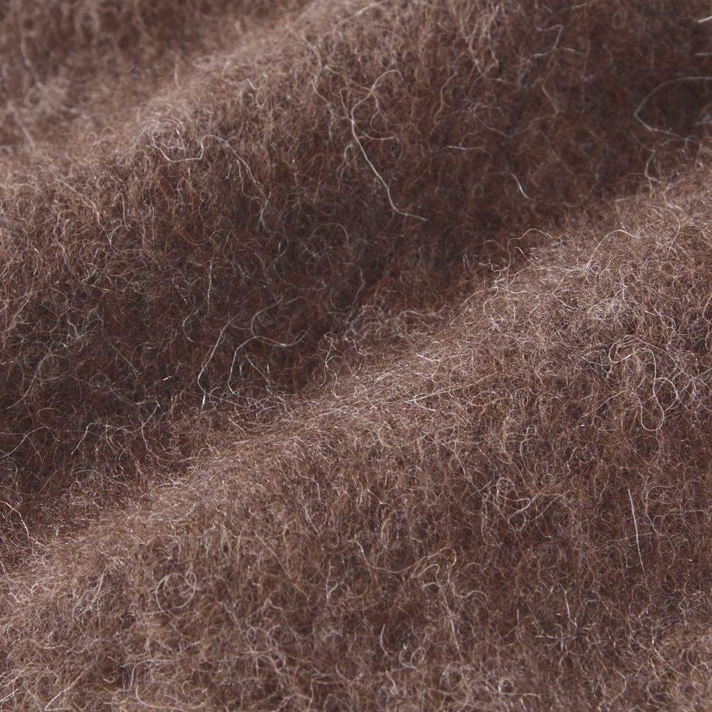 アルパカ混シリーズ レッグウォーマー 肌に触れる内側部分は、起毛加工を施しているので、さらに暖かさがアップ!