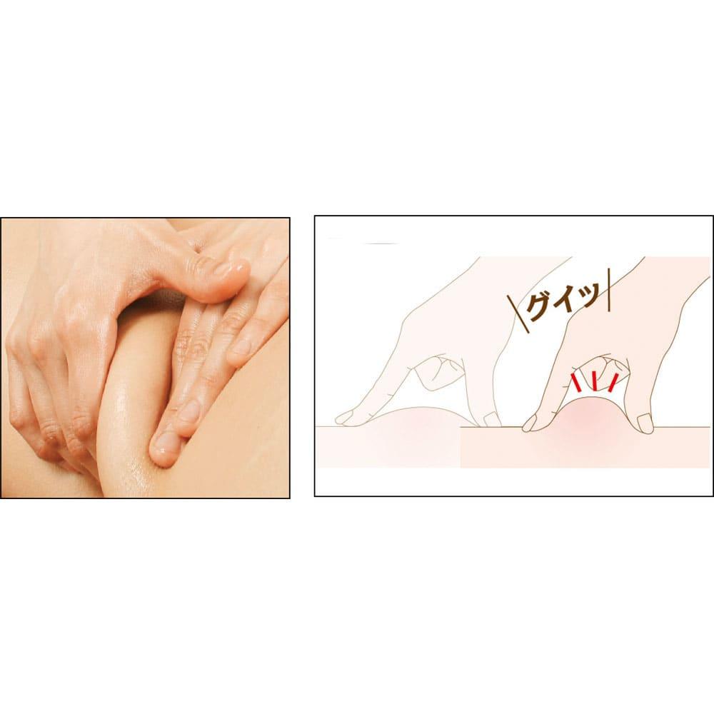 桜香流セルスルーエステ ウエストシェイプ (同色同サイズ2枚組) 《Step2》 もみほぐし 動くたびに体をほぐす ハニカム形状のデコボコ編み目が肌に吸い付いて、動く度にぐいっとつまむような感覚で刺激します。