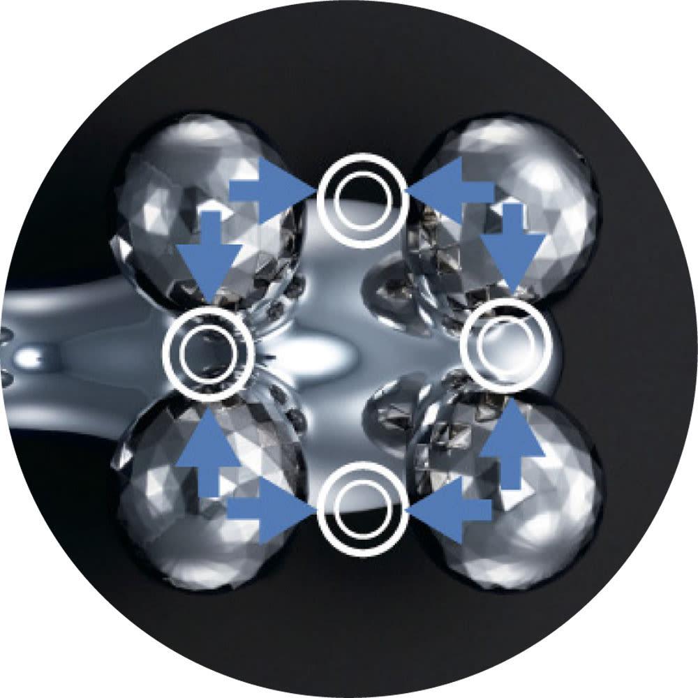 ReFa/リファ プラチナ電子ローラー(R) ReFa 4 CARAT(リファフォーカラット) ダブルインパクト構造によりローラーの入射角度を細かく設定。