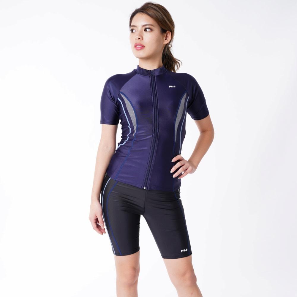 FILA/フィラ フィットネス水着単品 9~13号 (イ)ネイビー コーディネート例 ※ネイビーの色は水着単体画像の色が実物に近い色となります